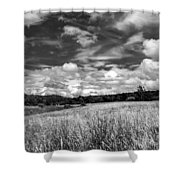 God's Country In Monochrome Shower Curtain