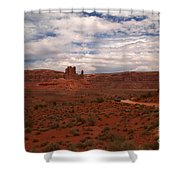 Gods In The Distance Shower Curtain