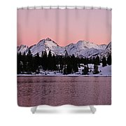 God's Light Painting At Molas Lake Shower Curtain
