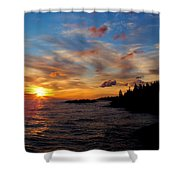 God's Morning Painting Shower Curtain