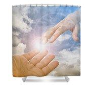 God's Saving Hand Shower Curtain