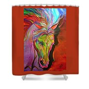 God's War Horse Shower Curtain