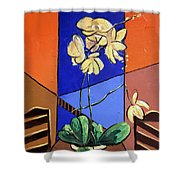 Gods Yellow Orchids Shower Curtain
