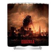 Godzilla 2014 Shower Curtain