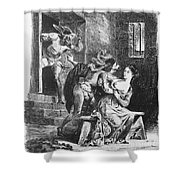 Goethe: Doctor Faust Shower Curtain