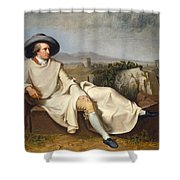 Goethe In The Roman Campagna Shower Curtain