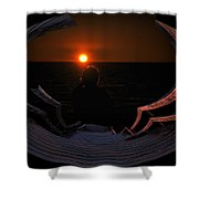 Going Down Oval Image Shower Curtain