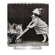 Going For A Stroll Shower Curtain by Aged Pixel