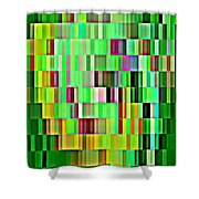Going Green Geometric Abstractions Colorful Creations Designer Phone Cases 123 Carole Spandau Shower Curtain