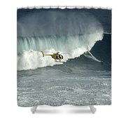 Going Left At Jaws Shower Curtain