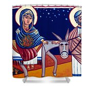 Going To Bethlehem Shower Curtain
