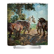 Going To Pasture Shower Curtain