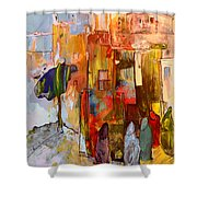 Going To The Medina In Morocco Shower Curtain