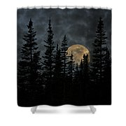 Going To The Sun Moonrise Shower Curtain