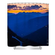 Going-to-the-sun Sunset Shower Curtain