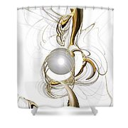 Gold And Pearl Shower Curtain
