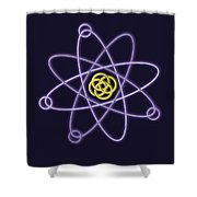 Gold And Silver Line Atomic Structure Shower Curtain