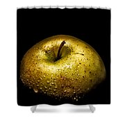 Gold Apple Shower Curtain