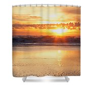 Gold Bluff Sunset Shower Curtain