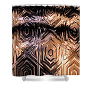 Gold Carving Shower Curtain