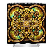 Gold Celtic Cross Shower Curtain