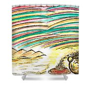 Gold Coins At The End Of  Rainbows Shower Curtain