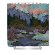 Gold Creek Snoqualmie Pass Shower Curtain