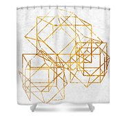 Gold Cubed II Shower Curtain