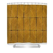 Gold Curls Shower Curtain