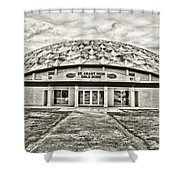 Gold Dome Shower Curtain