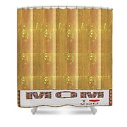 Gold Embossed Foil Art For Mom Digital Graphic Signature   Art  Navinjoshi  Artist Created Images Te Shower Curtain
