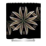 Gold Floral Abstract Shower Curtain