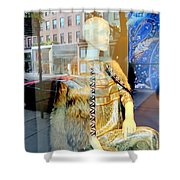 Gold Glamour Shower Curtain