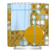 Gold Is My Wish Shower Curtain