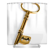 Gold Key Shower Curtain