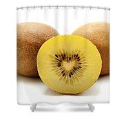 Gold Kiwifruit Shower Curtain