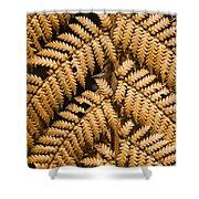 Gold Leaf Fern Shower Curtain