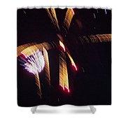 Gold Leafy Firework Shower Curtain