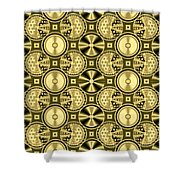 Gold Metallic 16 Shower Curtain