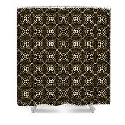 Gold Metallic 17 Shower Curtain