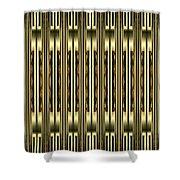 Gold Metallic 18 Shower Curtain
