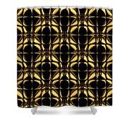 Gold Metallic 8 Shower Curtain