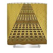 Gold Metallic 9 Shower Curtain