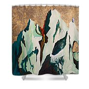 Gold Mountain Shower Curtain