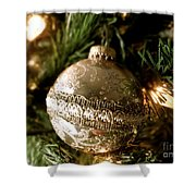 Gold Ornament Shower Curtain