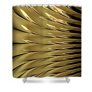Gold Ridges Shower Curtain