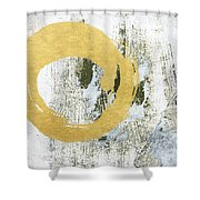Gold Rush - Abstract Art Shower Curtain