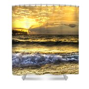 Gold Rush Shower Curtain by Debra and Dave Vanderlaan