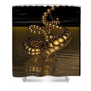 Gold Serpentine  Shower Curtain