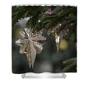 Gold Star Christmas Tree Ornament 4 Of 4 Shower Curtain